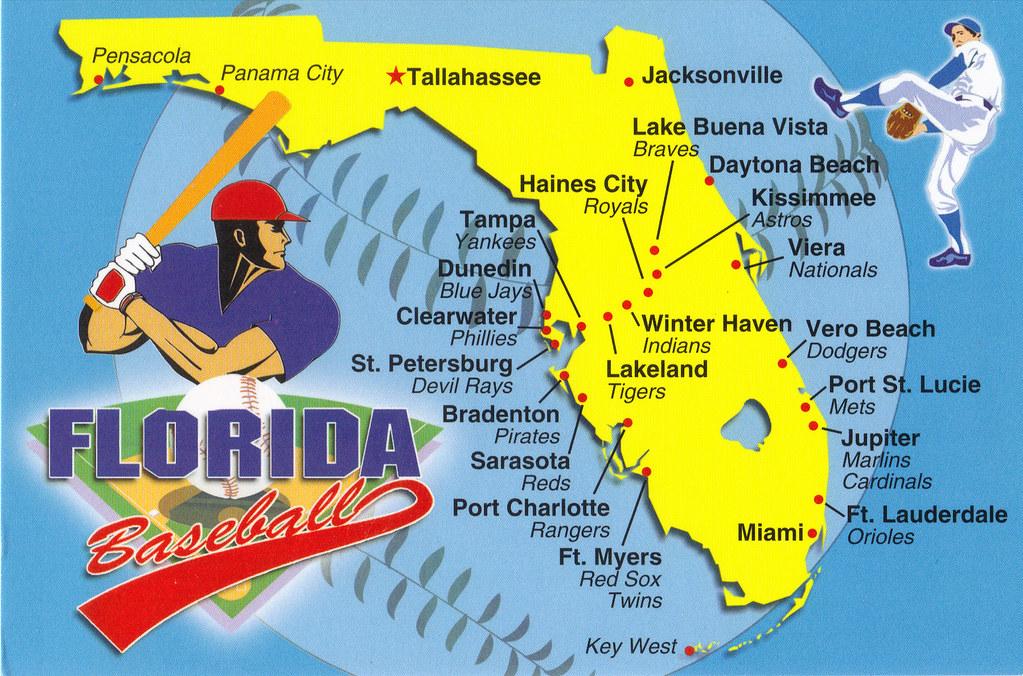 Viera Florida Map.Florida State Baseball Training Map Postcard 2 Different W Flickr