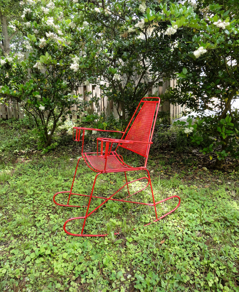 Vintage Metal Outdoor Rocking Chair You Will Have The Best Flickr