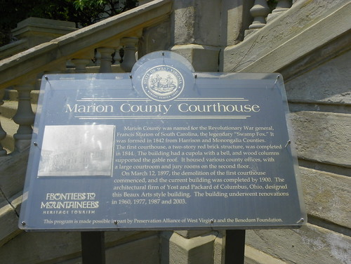 Marion County Courthouse Historical Marker | by J. Stephen Conn