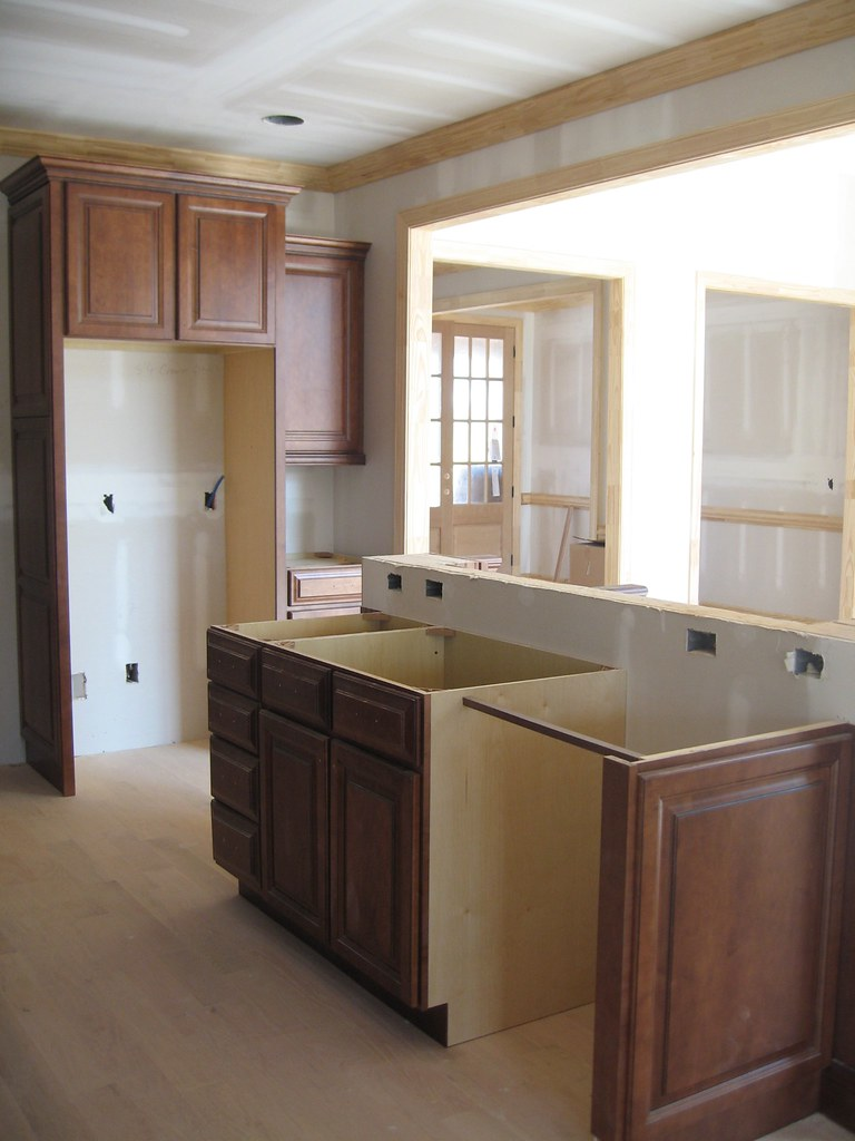Unfinished Kitchen Island | Haven Tree Custom Homes | Flickr