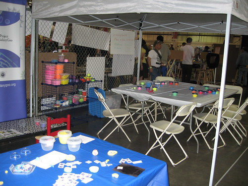 GalaxyGoo Cell Project booth at the Maker Faire | by galaxygoo1