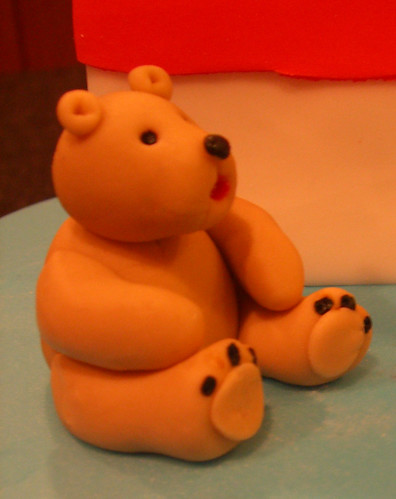 Slice of Cake - fondant bear accent | by thecakestylist