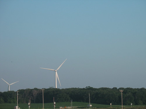 WI Windmills Near Mile Marker 92 On Hwy 41  WI