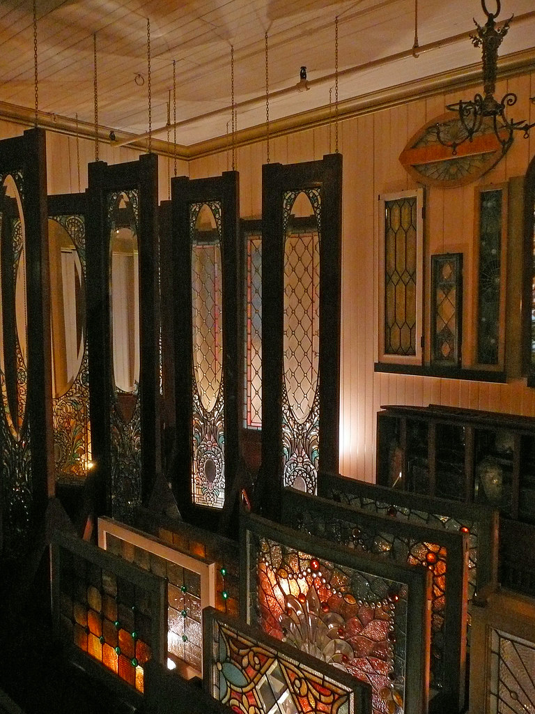 winchester mystery house tiffany glass storage room flickr