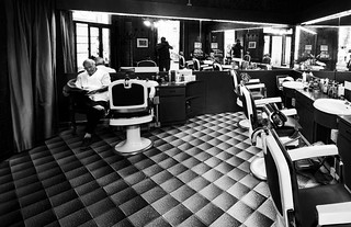 Old Barber Shop in Rome bw over 26.000 visits | by fabio c. favaloro
