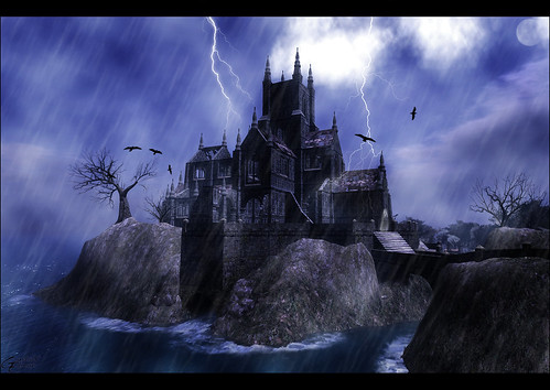 .: Golgothica - Thunderstorm over Castle :. | by Gandalf Edman