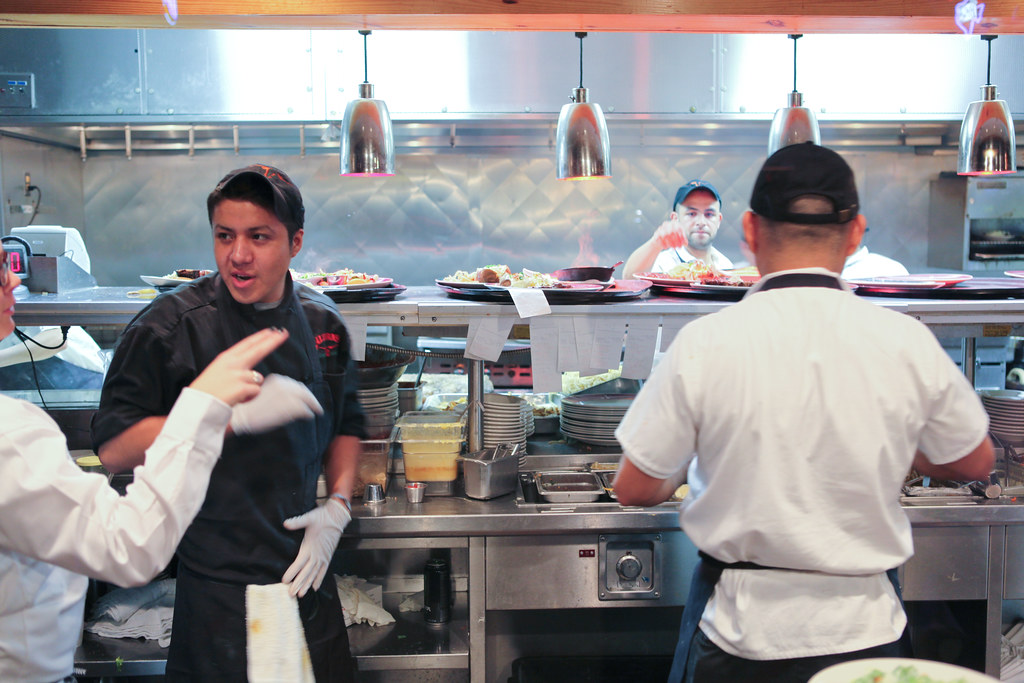 busy restaurant kitchen. Busy People In The Kitchen At Saltgrass Steakhouse   By Lars Plougmann Restaurant