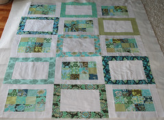 Aqua Daisy Chain quilt top | by filminthefridge