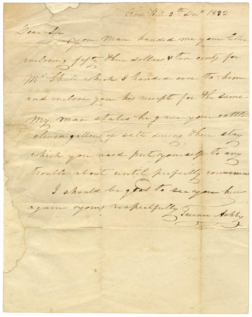 Letter written by Turner Ashby (1 of 2) | Title: Letter writ… | Flickr