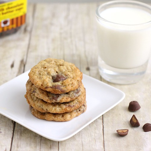 Oatmeal Peanut Butter Cup Cookies | by Tracey's Culinary Adventures