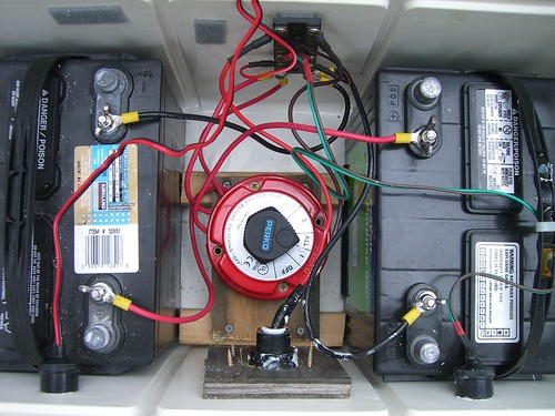 Battery Bank In A Cooler Two 12 Volt Batteries In
