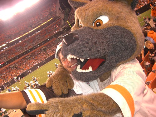 Browns mascot getting pictures | by Jason Pero