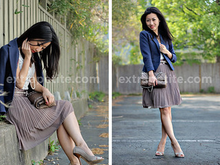 PleatedSkirt_double | by ExtraPetite.com