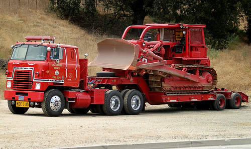Los Angeles County FD Dozer 2/Trans 4 | by Code20Photog