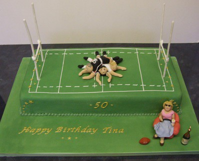 Rugby Mum 50th Birthday Cake 5oth Birthday Cake For A
