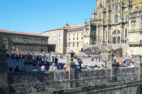 Plaza de obradoiro vistas a la catedral