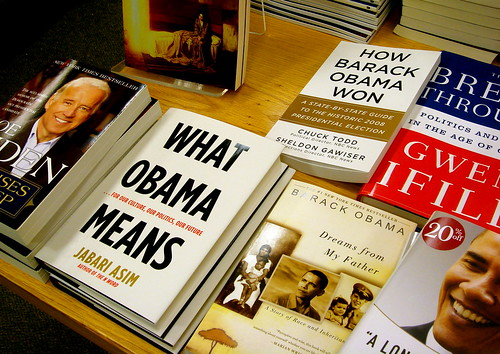 Bookstore shrine to Obama