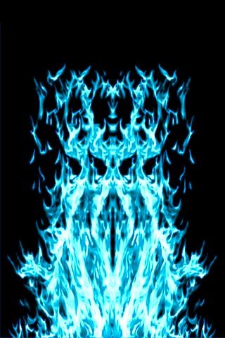 Touch Blue Fire Wallpaper