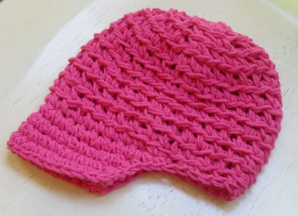 b2a16cbb951 ... AdornmentsByDesign Newsboy Baby Hat - Pink - Open Weave