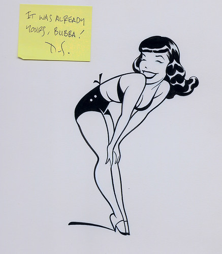 Dave Stevens Bettie Page cartoon | by The Everlasting Jamie S Rich