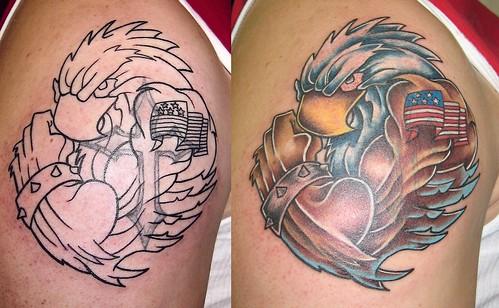 patriotic eagle tattoo sacred heart tattoo lincoln ne