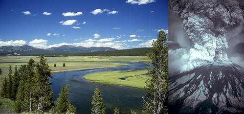 Yellowstone Caldera and Mount St. Helens | by Image Editor