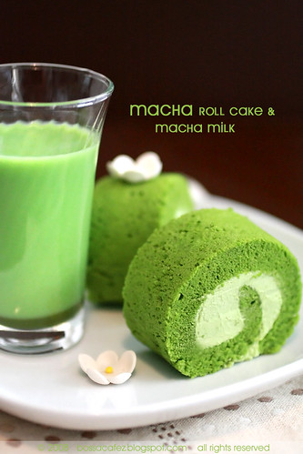 Macha Roll Cake | by *bossacafez
