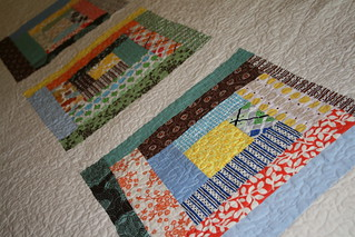 Stacked Coin Quilt - Back Detail | by alissahcarlton