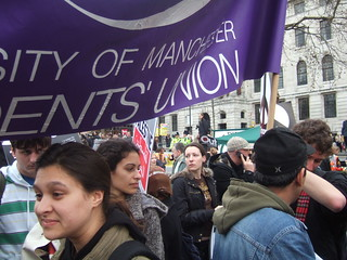 Manchester University SU at the Protest | by Ben Parsons *