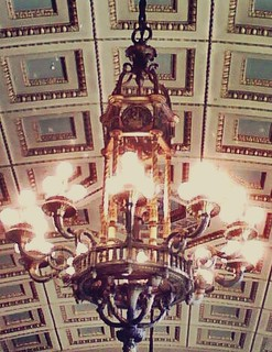 Chandelier in Essex County Hall of Records (Newark NJ), Special Civil Part courtroom | by Ron Coleman
