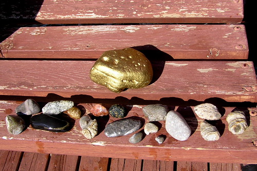rocks, and giant gold nugget | by normanack