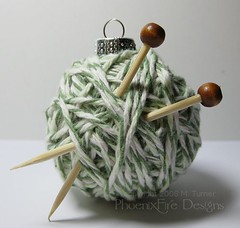 Yarn Ball Christmas Tree Ornament | by PhoenixFireDesigns