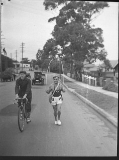 Tom Morris, skipping champion (taken for Greater Union Theatres), 28 June 1937, by Sam Hood | by State Library of New South Wales collection