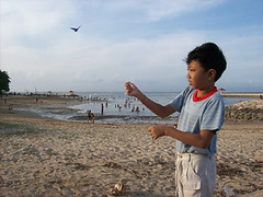 Flying A Kite At Pantai Karang Sanur | by sapteka