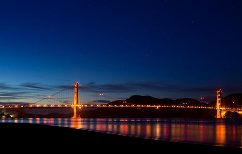 Golden Gate Bridge (after sunset) | by sar-kelandi