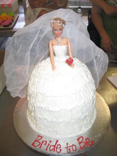 Barbie Doll Bridal Shower Cake