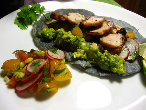 sweetbread blue corn tacos | by SeppySills