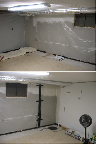the unfinished basement room - tarping | by blakespot