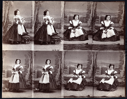 This Day in History: Birthday of Disdéri (March 28, 1819- October 4, 1889) - Uncut Sheet of Carte de Visite Photographs of Mlle. Godfrend | by Photo_History - Here but not Happy