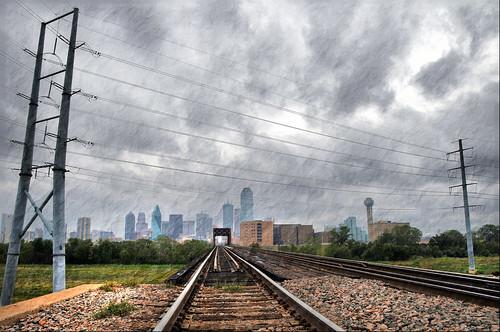 Dallas Texas Skyline Hurricane Ike Tropical Storm Clouds T ...