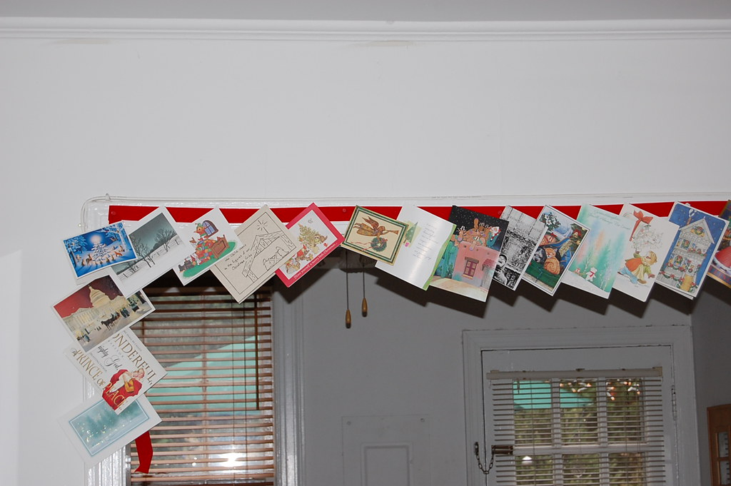 Hanging Christmas Cards | It\'s like a custom to hang christm… | Flickr