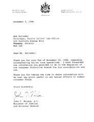 JOHN NILSEN LETTER TO BOB SALVADOR PARALEGAL | Bee_Good | Flickr