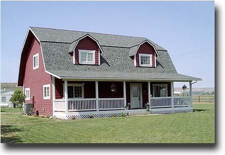 Gambrel roof barn house flickr for Gambrel metal homes