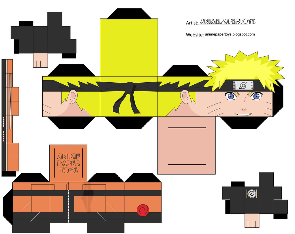 papercraft cubee cubeecraft naruto shippuden anime paper t flickr