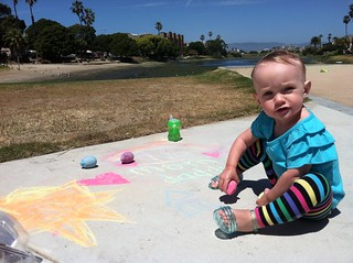 Sidewalk chalkin'. | by Dad or Alive