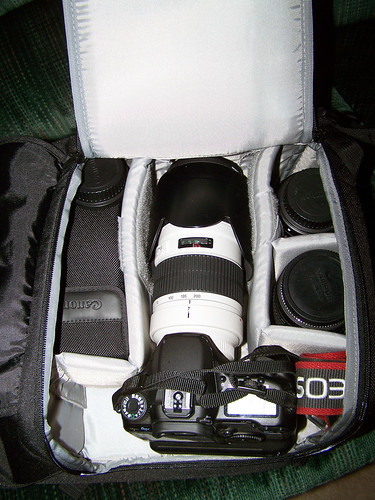 Lowepro Fastpack 350 Canon 40d With Bg E2n Battery Grip
