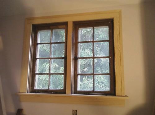 Window trim my attempt at carpentry uos n for Mid century modern interior window trim
