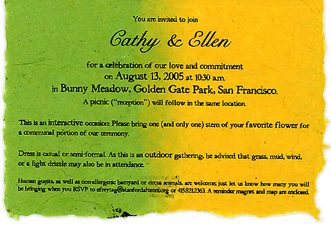 Commitment Ceremony Invitation inside For Cathy Ellen Flickr