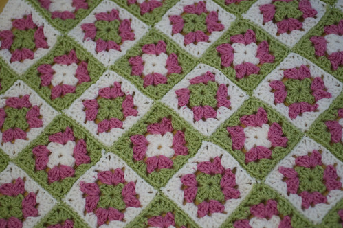 granny square baby afghan | by jrcraft