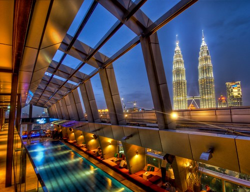 The Sky Bar in Kuala Lumpur with a view of Petronas | by Trey Ratcliff